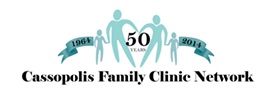 50th Anniversary logo for Cass Family Clinic Network